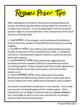 Counselor Resume Template--Burnt Orange Design