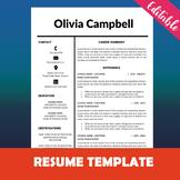 Counselor Resume Template, Elegant CV Template Design, Tea