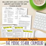 Counselor Resume Template--Elegant Design