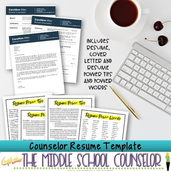 Counselor Resume Template--Professional Gray Design