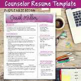 Counselor Resume Template--Purple Haze Design