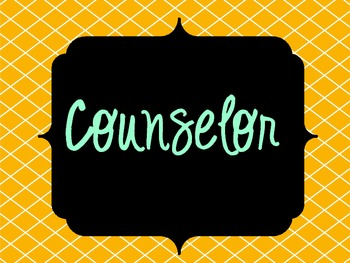 Counselor Signs