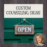 Counselor Signs-Editable-Confidentiality Signs Included