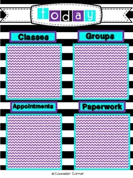 Counselor Ta-Da! Lists Set {Black & Bold Post-It™ Note Design}