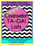 Counselor Ta-Da! Lists Set {Black & Bold Post-It? Note Design}
