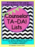 Counselor Ta-Da! Lists Set {Black & Bold Post-It™ Note Design}