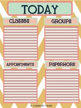 Counselor Ta-Da! Lists Set {Rustic Post-It Note Design}