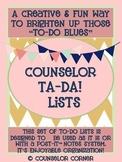 Counselor Ta-Da! Lists Set {Rustic Post-It Note Design}
