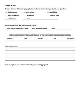 Counselor Teacher Assessment