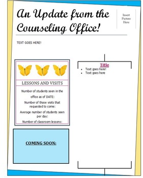 Counselor/Teacher Newsletter