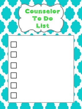 Counselor To Do List