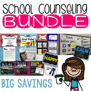 Counseling Bundle includes Grief, Character Ed, Stress, Birthdays & more