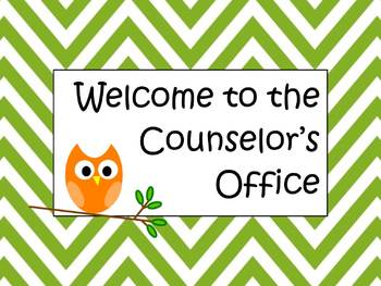 "Counselor Welcome Sign ""Welcome to the Counselor's Office"""