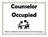 Counselor Work sign