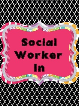 Counselor and Social Worker In-Out Signs