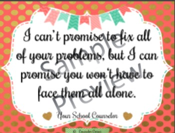 """Counselor's Promise Poster {""""Fancy"""" Theme}"""