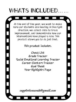 Counselors Check List
