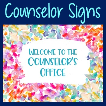 Back to School Counselor's Office Sign and Confidentiality Rules
