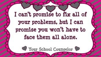 "Counselor's Promise Poster {""Lovely"" Theme} FREEBIE!"