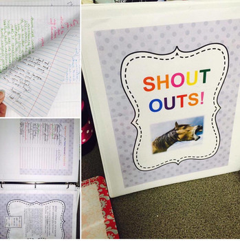 Faculty Morale Shout Outs Binder plus Posters