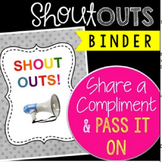 Faculty Morale Shout Outs Binder