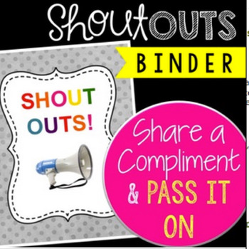 """Boost School Morale with the """"Shout-Outs"""" Binder plus Posters"""