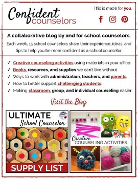 Counselors of TpT 2018 eBook for Back To School