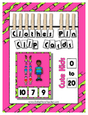 Count 0 to 20 Clip Card Clothes Pin Math Center Printable ~ Cute Kids