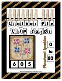 Count 0 to 20 Clip Card Clothes Pin Math Center Printable