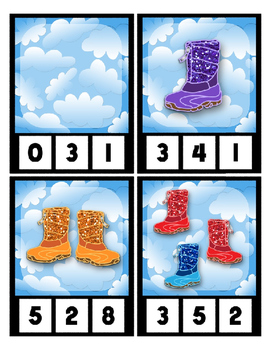 Count 0 to 20 Clip Card Clothes Pin Math Center Printable ~ Rubber Boot Sparkles