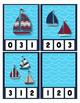 Count 0 to 20 Clip Card Clothes Pin Math Center Printable ~ Sail Boats ~ PreK