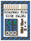 Count 0 to 20 Clip Card Clothes Pin Math Center Printable ~ Wild West Theme