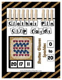 Count 0 to 20 Clip Card Clothes Pin Math Center  ~ Shutter