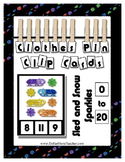 Count 0 to 20 Clip Card Clothes Pin Math Center  ~ Sled & Snow Sparkle