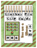 Count 0 to 20 Clip Card Clothes Pin Math Center  ~ You are a Winner Ribbons
