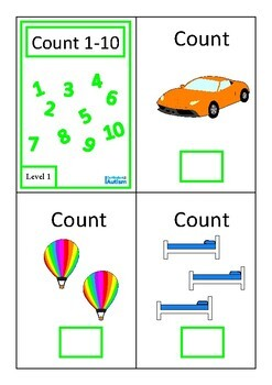 Count 1-10 Interactive Adapted Books Set, Autism, Special Education