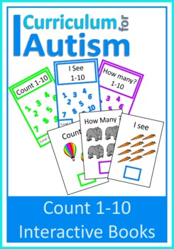 Count 1-10 Number Books Autism Special Education