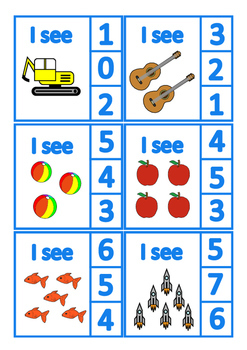 Count 1-10 Visual Flash Cards, Autism, Special Education Basic Concepts