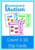 Count 1-10 Cards Autism Special Education Basic Concepts