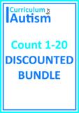 Count 1-20 Bundle Autism Math Task Box Cards Mats