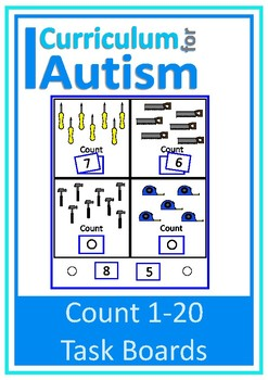 Count 1-20 Visual Task Boards, Autism, Special Education, Math Center