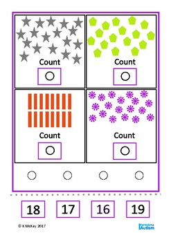 Count 1-20 Visual Task Boards Autism Special Education Math Center