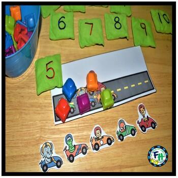 Count 1 to 10 Activity Center | Racing Fun