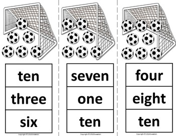 Count 1 to 10 - How Many Soccer Balls Counting Activity Package
