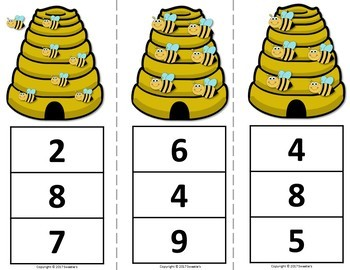 Count 1 to 10 - How Many Bees Counting Activity