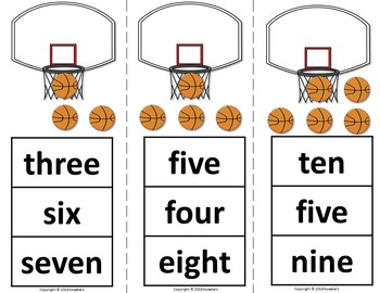 Count 1 to 10 - How Many Basketballs Counting Activity Package