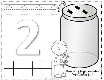 Count 1 to 10 - How Many Bugs in the Jar Counting Activity Package