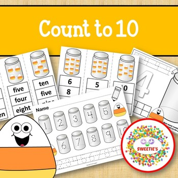 Count 1 to 10 - How Many Candy Corn Pieces Counting Activity