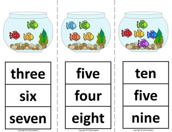 Count 1 to 10 - How Many Fish Counting Activity Package