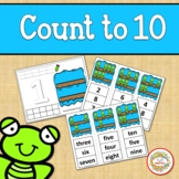Count 1 to 10 - How Many Frogs on a Log Counting Activity Package